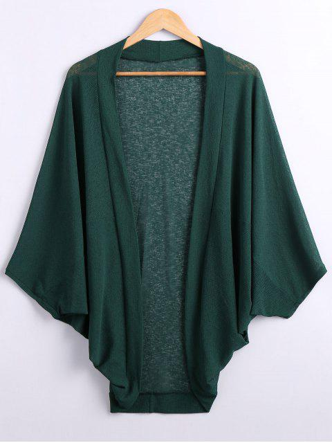 buy Batwing Sleeve Plus Size Cardigan - GREEN XL Mobile