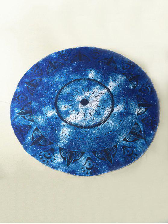 Plage Round Throw Serviette de plage - Bleu TAILLE MOYENNE
