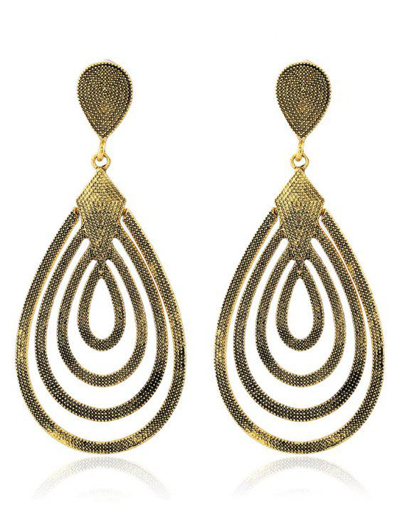 latest Filigree Teardrop Earrings - CHAMPAGNE GOLD