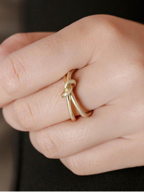 Knotted Open Ring - Golden