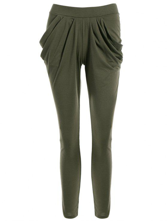 outfits Work Harem Pants - OLIVE GREEN L