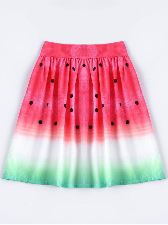 Una Línea-falda de la sandía - Multi M