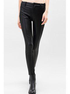 Skinny PU Leather Pencil Pants - Black S