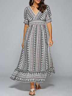 Paisley Print Vestido Maxi