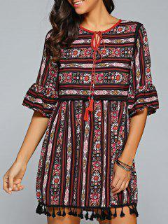 Imprimer Ethnique A Mini-robe Ligne - S