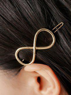Hueca Infinito Hairgrip - Dorado