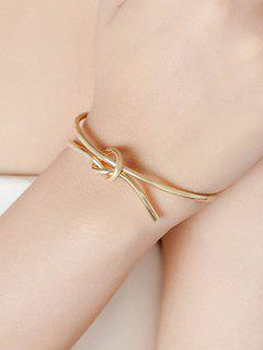 Knotted Open Bracelet - Golden