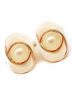 Faux Pearl Swirl Stud Earrings - Off-white
