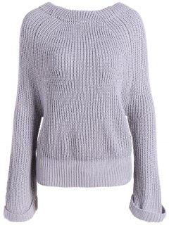 Long Sleeve Oversize Jumper - Gray