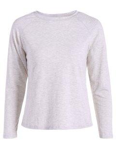 Hendidura Camiseta Trasera - Gris L