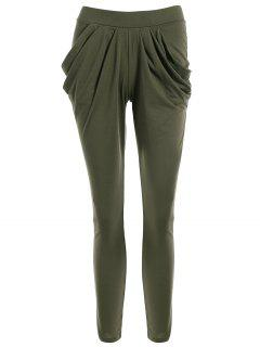 Work Harem Pants - Olive Green L