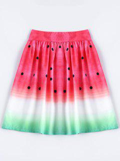 Una Línea-falda De La Sandía - Multicolor M