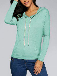 Front Pocket Hoodie - Light Green M
