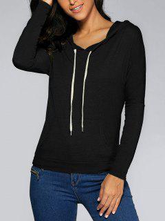 Front Pocket Hoodie - Black M