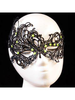Pentagram Elastic Hair Band Party Mask - Black