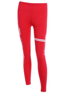 Elastic Running Leggings - Red
