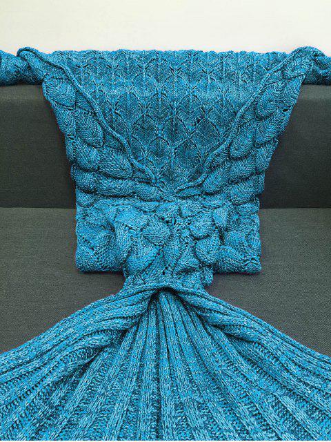 new Fish Scales Design Mermaid Blanket - LAKE BLUE M Mobile