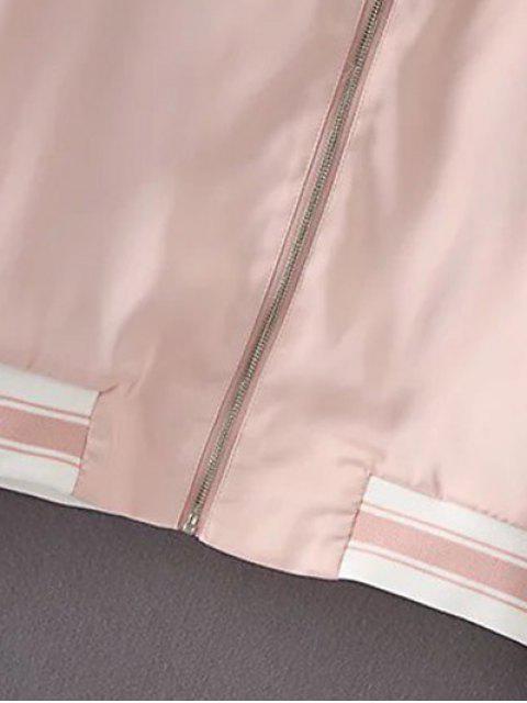unique Flounced Stand Neck Jacket With Shorts - BLACK L Mobile
