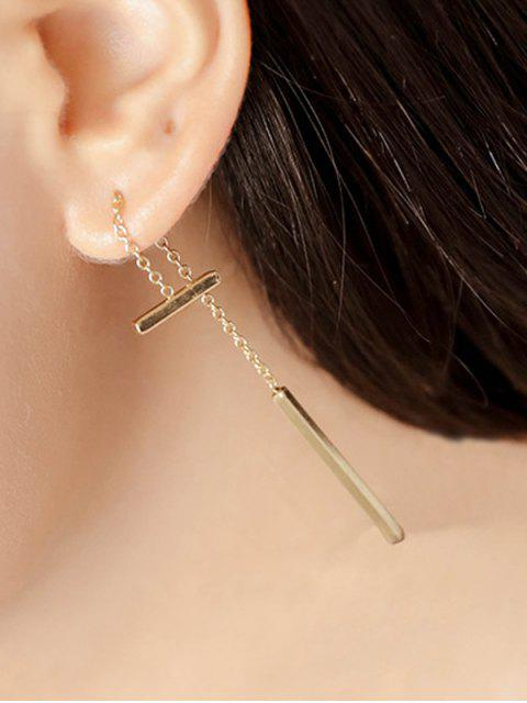 Boucles d'oreilles Pendentif Long Bar - Or  Mobile