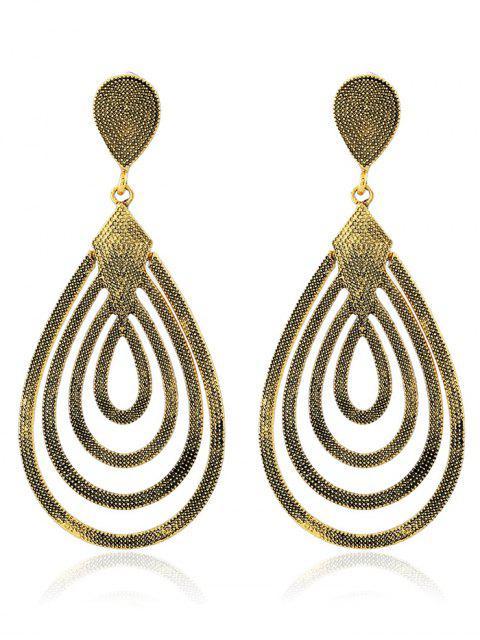 latest Filigree Teardrop Earrings - CHAMPAGNE GOLD  Mobile