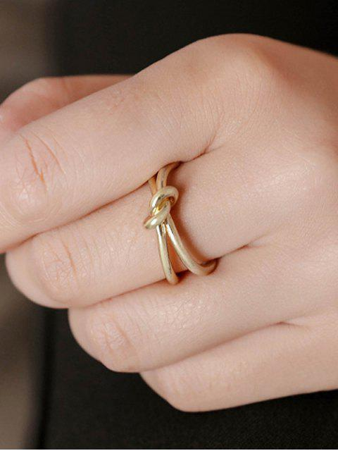 fancy Knotted Open Ring - GOLDEN  Mobile