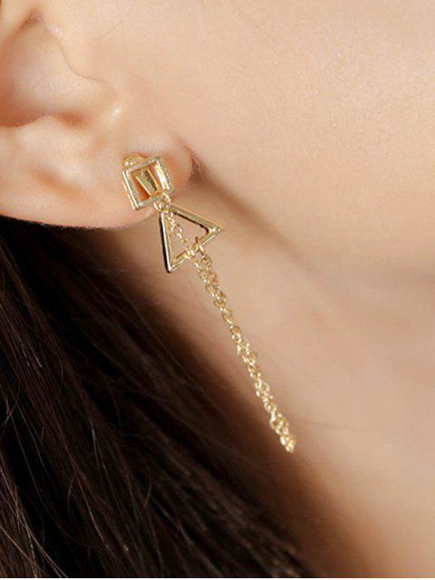 buy Square Triangle Chain Pendant Earrings - GOLDEN  Mobile