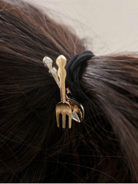 shops Spoon Fork Elastic Hair Band - BLACK  Mobile