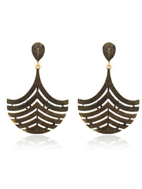 chic Filigree Half Teardrop Earrings -   Mobile