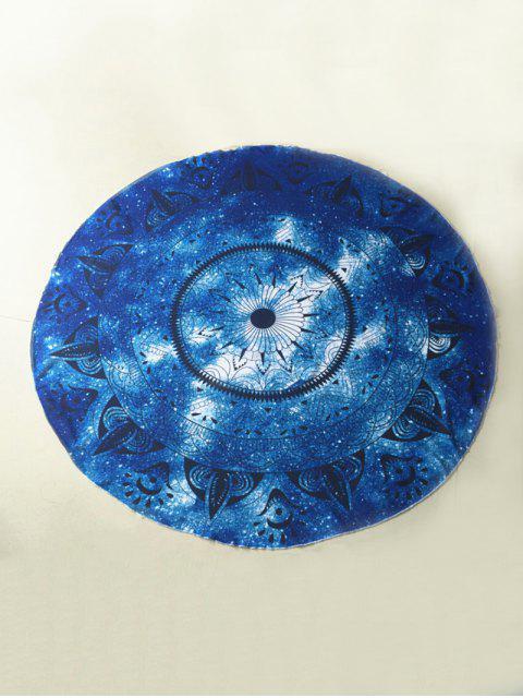 Plage Round Throw Serviette de plage - Bleu TAILLE MOYENNE Mobile