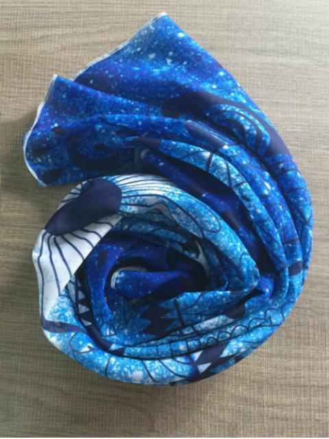 fancy Round Beach Throw Beach Throw - BLUE ONE SIZE Mobile