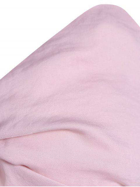 Robe Découpée Avec Fente Élevée Avec Laçages à Col Halter - Rose Nu L Mobile