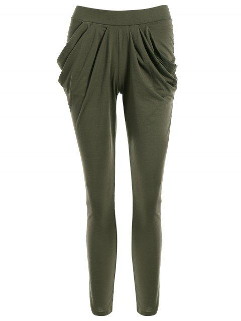 outfits Work Harem Pants - OLIVE GREEN L Mobile