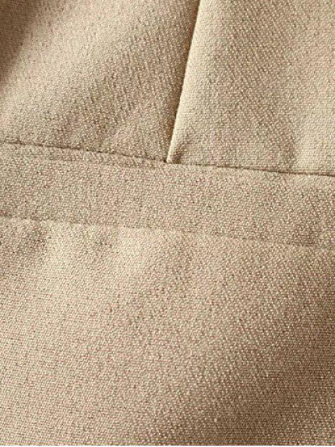 Plissé Pocket Patch Shorts - Gris M Mobile