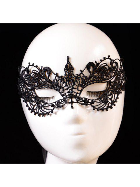 Aushöhlen elastisches Haar-Band-Party-Maske - Schwarz  Mobile