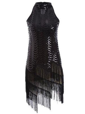 Robe Glands Paillettes Party - Noir