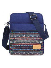 زيب حقيبة قماش كروسبودي - ازرق غامق