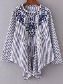 d65a37e0bad114 Striped Embroidered Blouse  Striped Embroidered Blouse ...