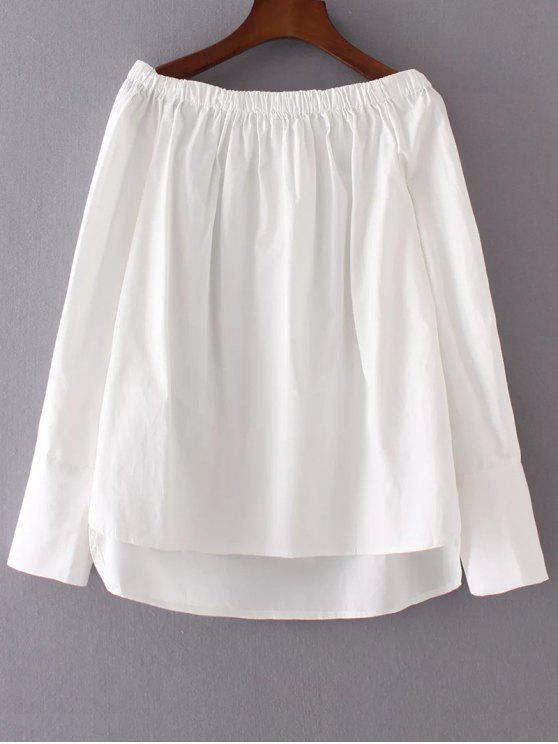 online Off The Shoulder High Low Blouse - WHITE M