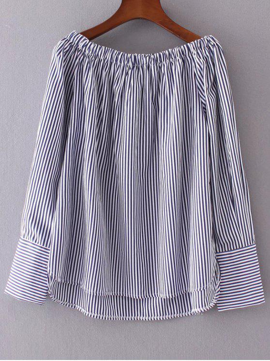 Fuera del hombro blusa de rayas - Raya M