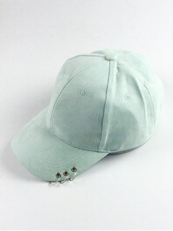 fa145f603b1 29% OFF  2019 Circle Hoop Faux Suede Baseball Hat In MINT GREEN