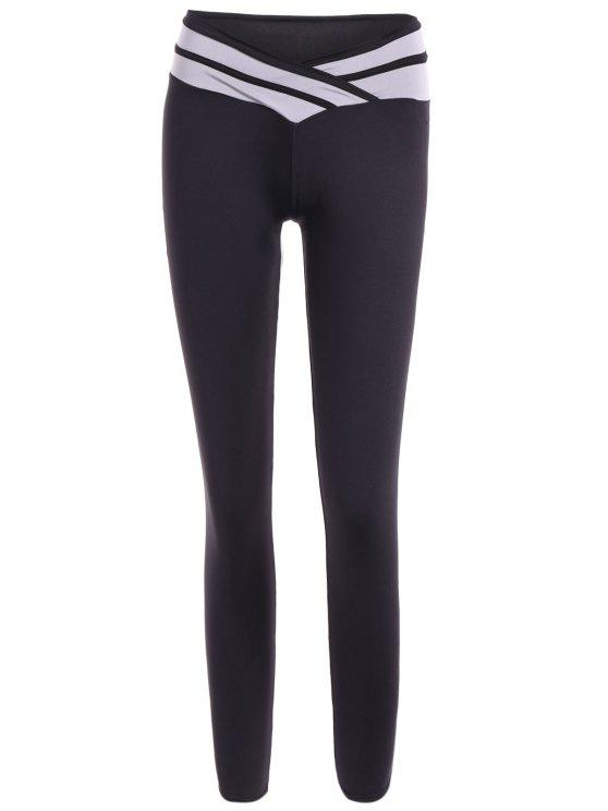 shops Tight Fit Yoga Leggings - WHITE AND BLACK M