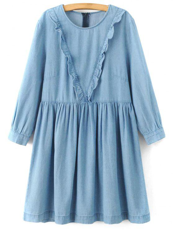Jabot A Dress Denim ligne - Bleu clair M