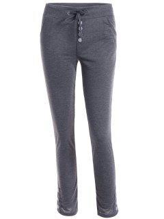 Drawstring Joggings Pants - Deep Gray Xl
