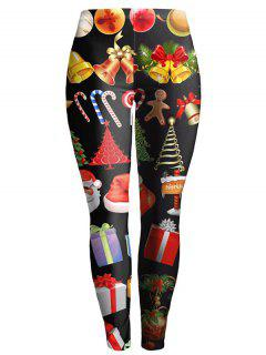 Slim Christmas Leggings - Black L