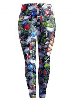 Active Printed Christmas Leggings - M