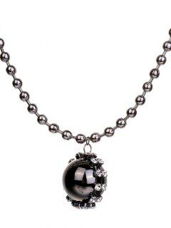 Geometric Ball Sweater Chain - Silver Gray