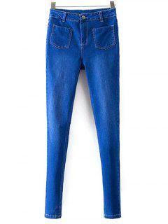 Skinny Jeans With Pockets - Deep Blue S