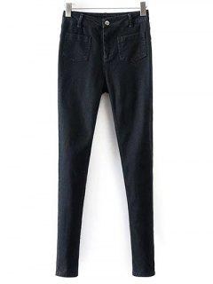 Skinny Jeans With Pockets - Black S