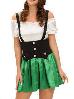 Adult Maid Halloween Costume - Green S