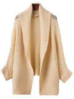 Open Knit Batwing Cardigan - Khaki